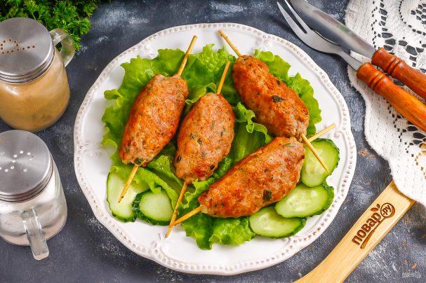 Люля-кебаб из баранины и курицы