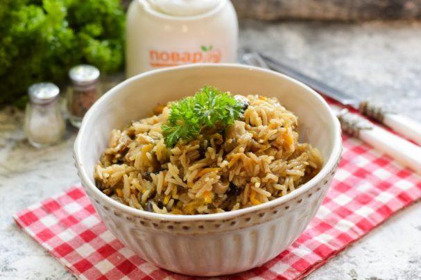 Овощное рагу с рисом и баклажанами